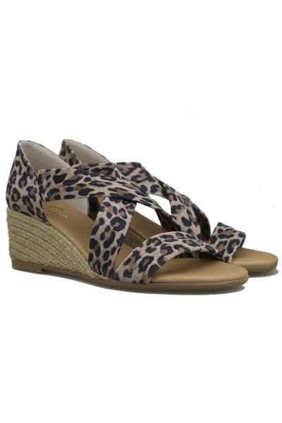 Claire High Espadrille By Pinaz In Leopard