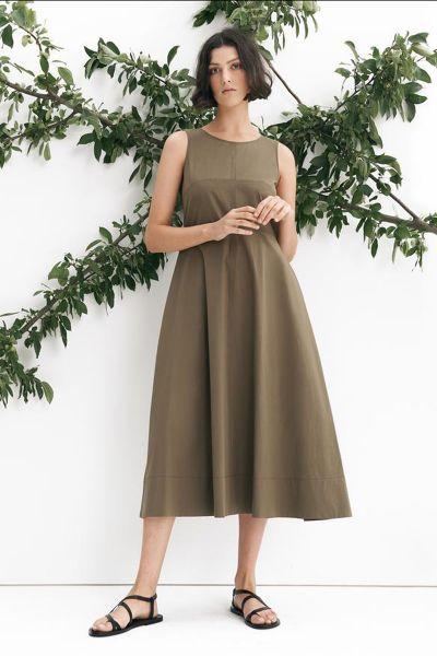 Layerd Liike Dress In Sage