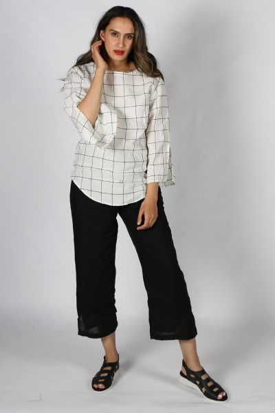 O&J Slouch Top in Check