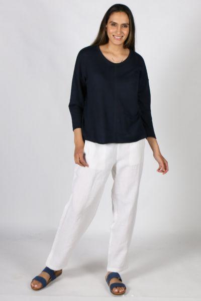 Goondiwindi Cotton Linen Pant in White