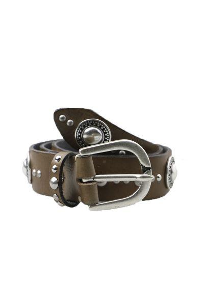 Shield Stud Belt By B.Belt In Taupe