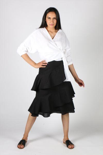 Solito Marseille Ruffle Skirt In Black