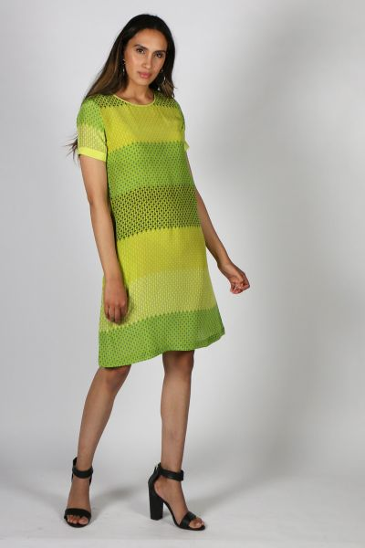 Printed Rasa Sella Vienna Dress In Green