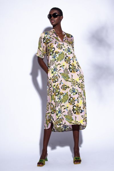Funky Staff Nandy Dress In Retro Rose