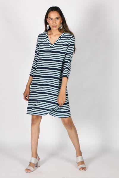 Printed Rasa Surya Candy Dress In Stripe
