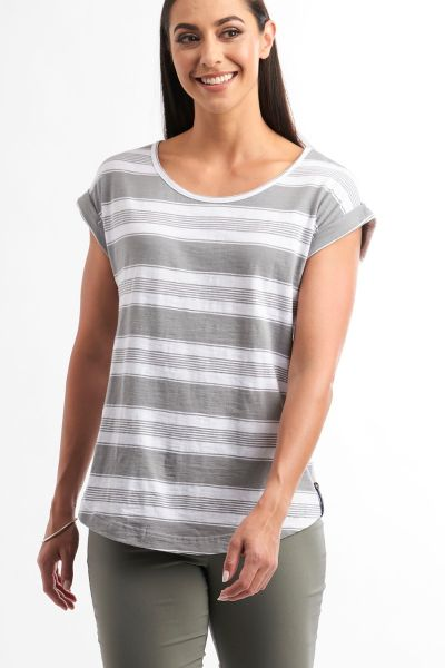 Foil On The Level Tee In Sage