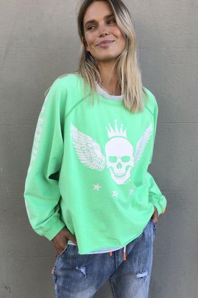 Hammill & Co. Skull Jumper In Green