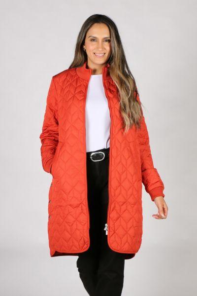 Ilse Jacobsen Padded Quilt Coat In Brick