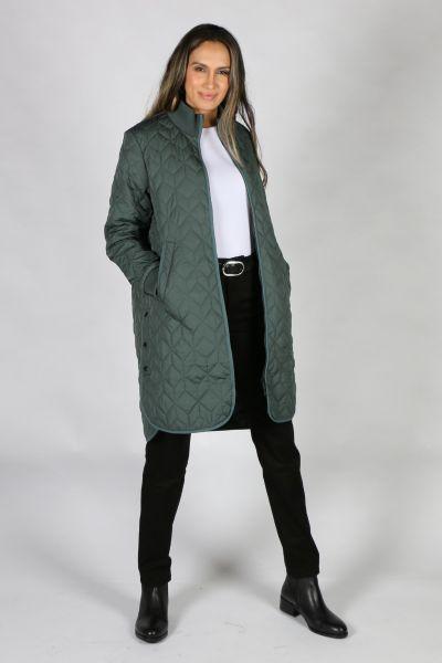 Ilse Jacobsen Padded Quilt Coat In Forest