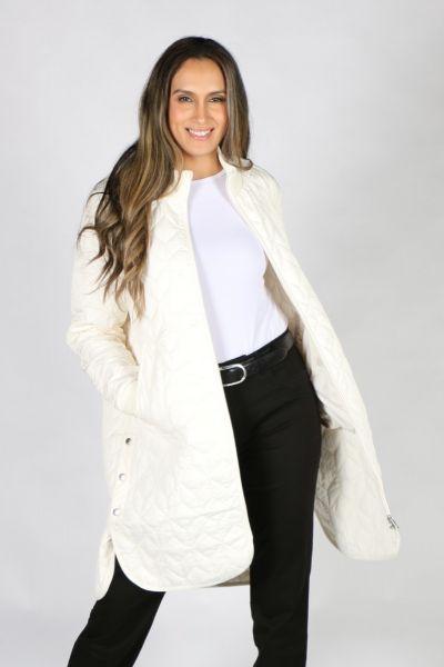 Ilse Jacobsen Padded Quilt Coat In Milk