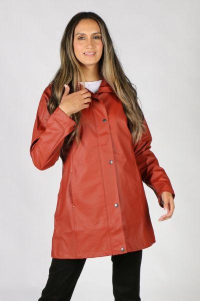 Ilse Jacobsen Hooded Raincoat In Henna
