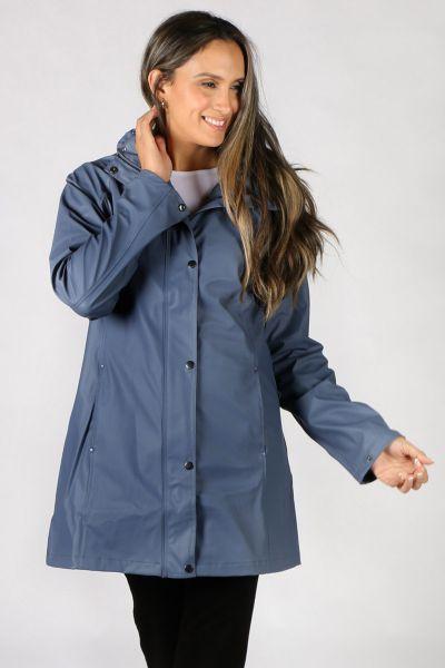 Ilse Jacobsen Hooded Raincoat In Slate