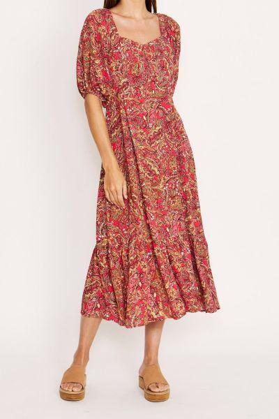 Kachel Josie Dress In Paisley