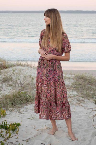 Kachel Loral Dress In Print
