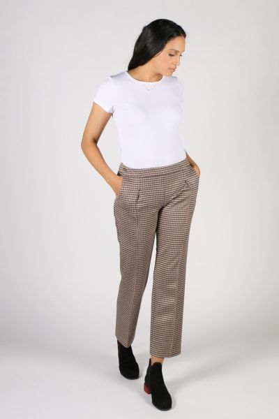 Lisette Houndstooth Check Pant