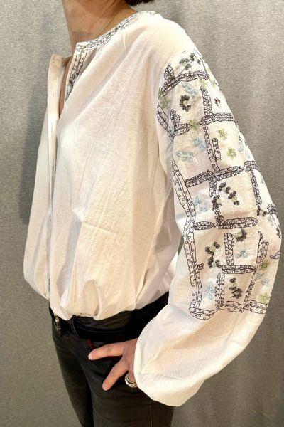 Maison Hotel Bernadette Shirt In Ivory