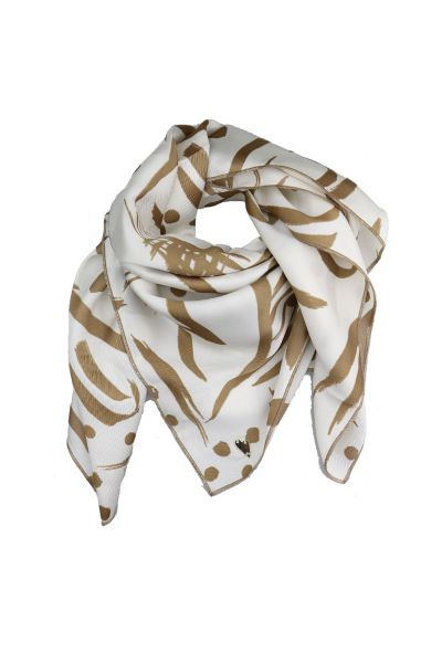 Printed Abstract Neutral Scarf By Mos Mosh