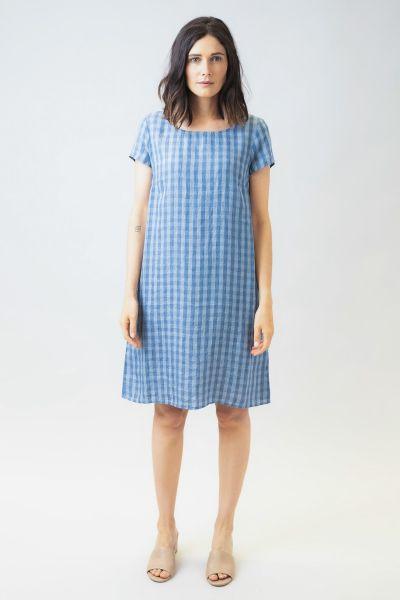 Naturals Linen Shift Dress In Blue