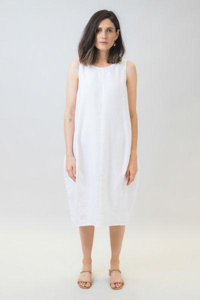 Naturals Tulip Dress In White
