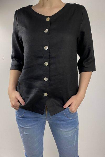 Naturals Button Shirt In Black
