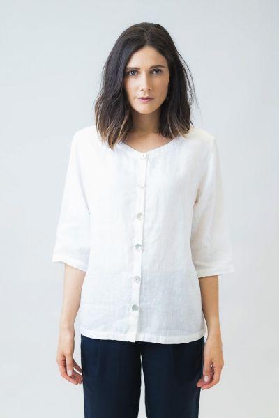 Naturals Button Shirt In White