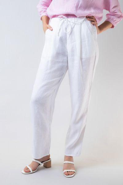 Naturals Drawstring Pant In White