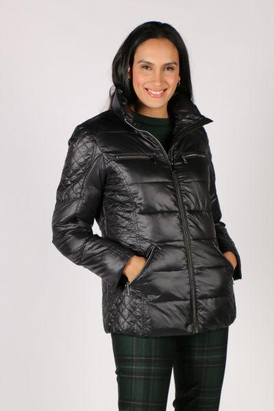 Paz Torras Quilted Jacket In Black