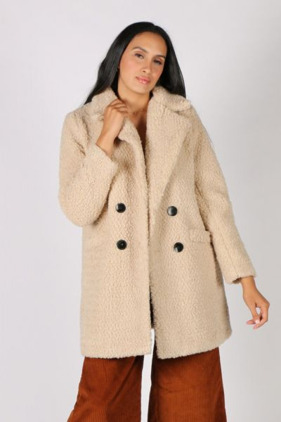 Ping Pong Teddy Coat In Oatmeal