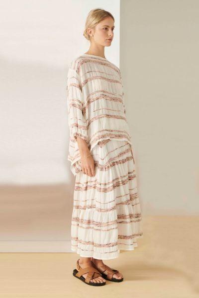 POL Artisan Skirt In Stripe