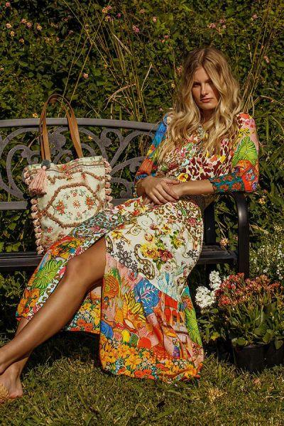 Gabor Maxi Dress By Rubyyaya In Multi