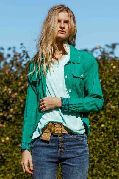 Rubyyaya Niagara Jacket In Emerald