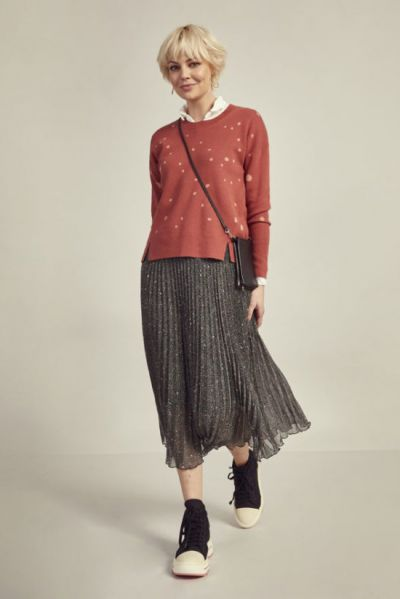 Madly Sweetly Tweed Dress Skirt In Black