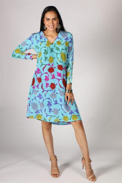 Anupamaa Amore Floral Dress In Aqua