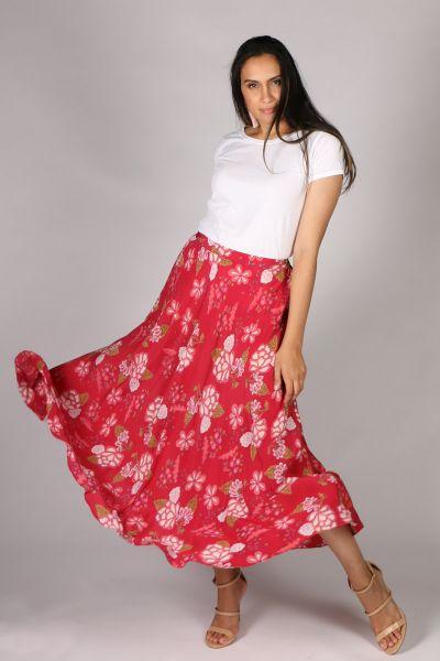 Anupamaa Bias Floral Skirt In Rose