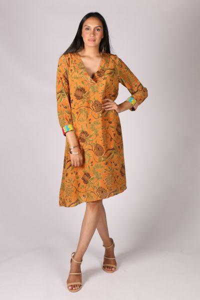 Anupamaa Monica Garden Dress In Tan