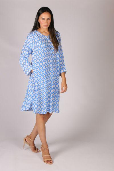 Anupamaa Pop Diamond Dress in Blue