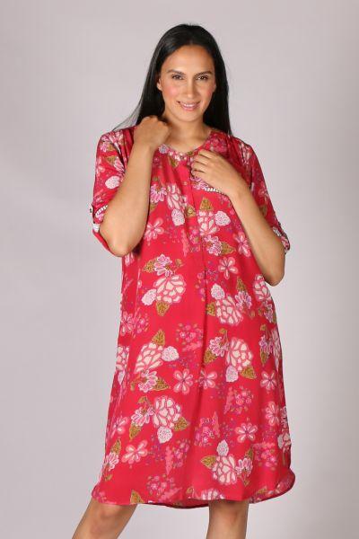 Anupamaa Pop Garden Dress In Rose
