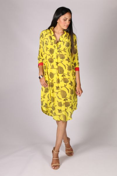 Anupamaa Roma Chrysanthemum Dress in Yellow