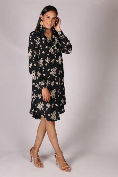 Anupamaa Roma Floral Dress In Black