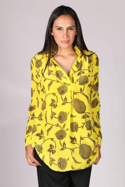 Anupamaa Rome Chrysanthemum Shirt In Yellow