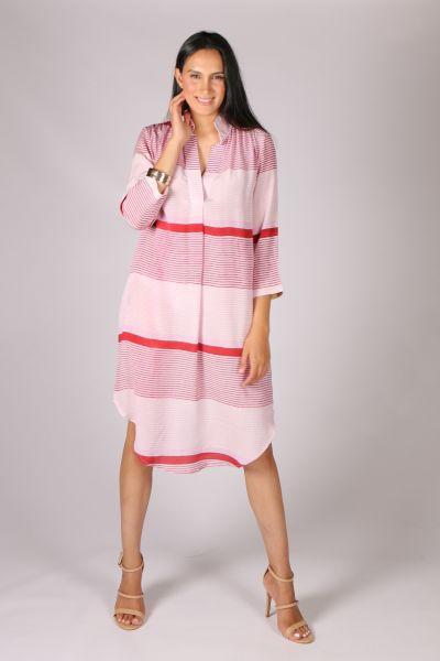 Anupamaa Rome Stripe Dress In Pink
