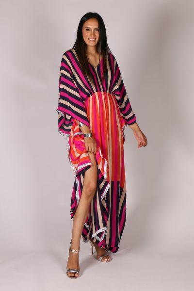 Anupamaa Sangeet Stripe Dress In Pink Multi