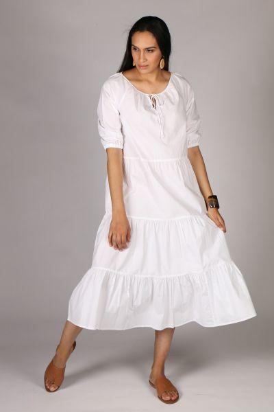 Bagruu Agra Midi Dress In White