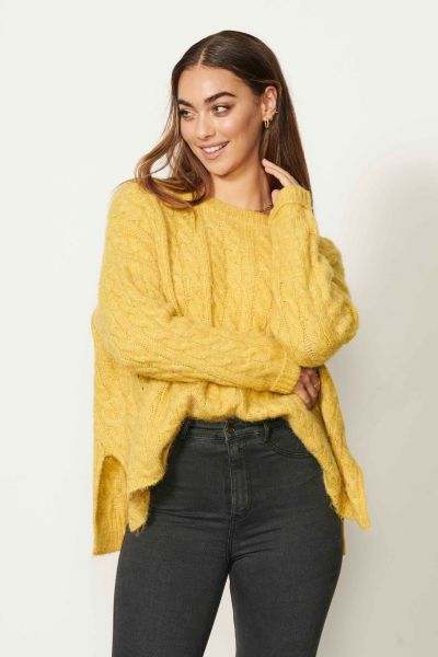 Caju Cable Jumper In Pineapple