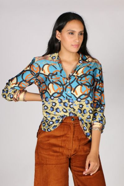 Etici Printed Shirt In Blue