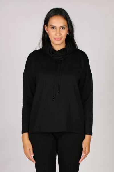 Foil Softly Spoken Sweater In Black