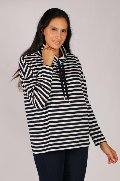 Foil Softly Spoken Sweater In Stripe