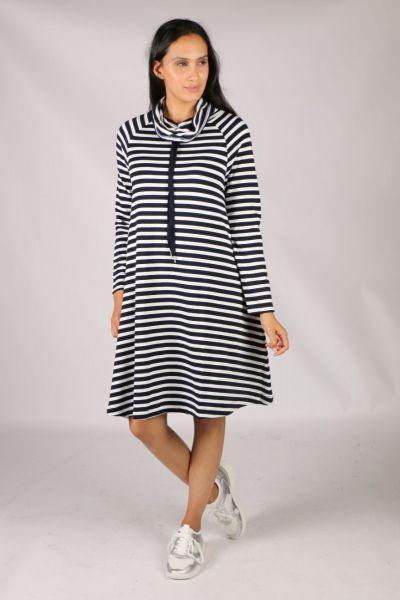Foil Softly Spoken Dress In Stripe