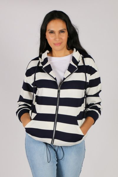 Hammock & Vine Marine Stripe Jacket In Navy