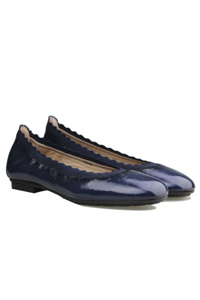 Classic Ballet Pump By Hispanitas In Navy